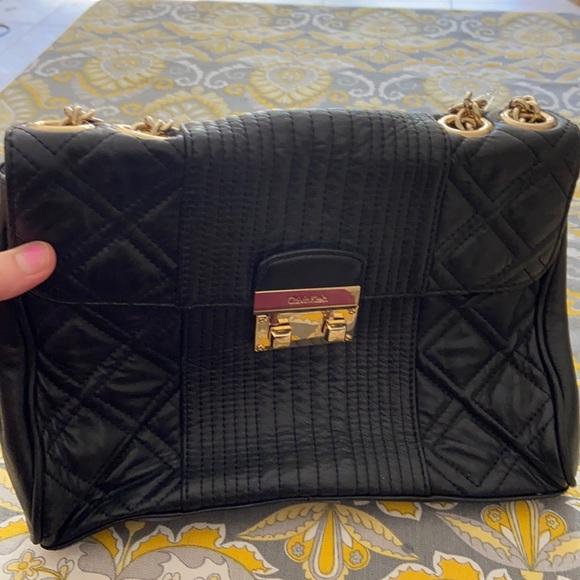 Calvin Klein leather crossbody to shoulder bag